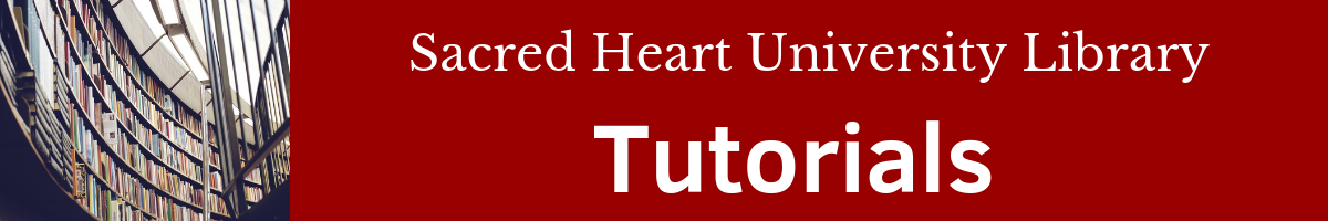 Sacred Heart University Library Tutorials: Library Technology Help