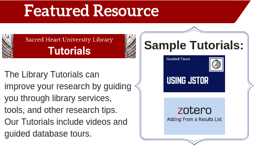 Library Tutorials Featured Resource