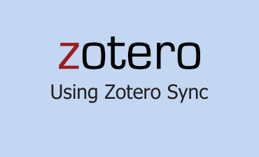 Using Zotero Sync Video Tutorial