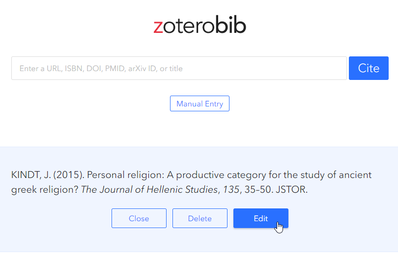 Zoterobib generated citation