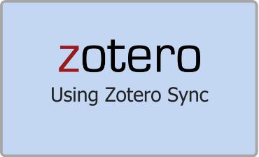 Zotero Using Zotero Sync Video Tutorial