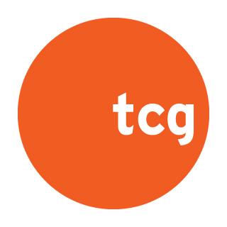 "White right-aligned ""tgc"" text inside an orange circle."