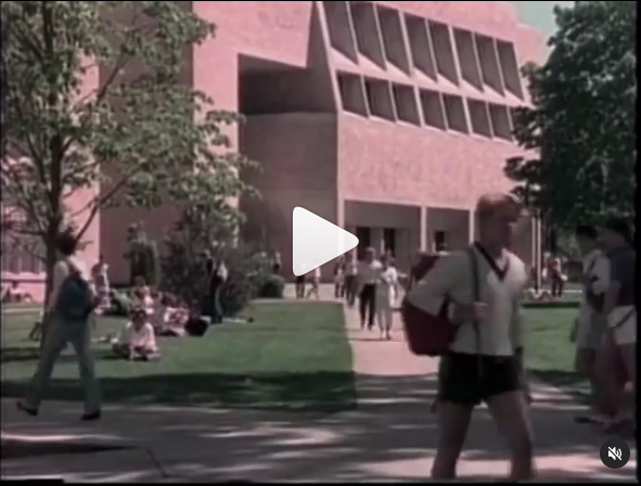 Still of 1985 video showing St. Thomas campus