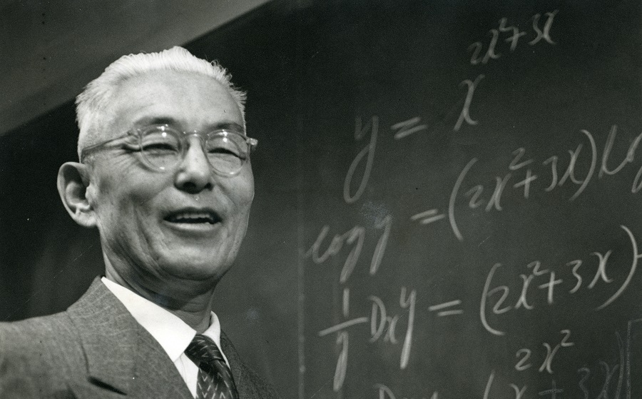 Black and white photo of Takashi Terami