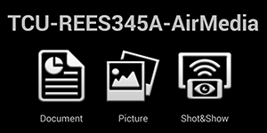 AirMedia console on Android