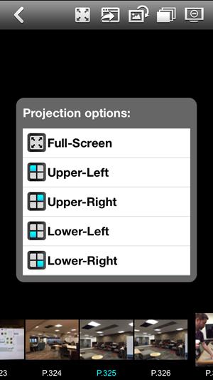 AirMedia iOS Quad View menu