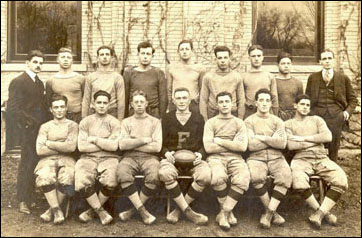 1915 NFS team with Work as coach