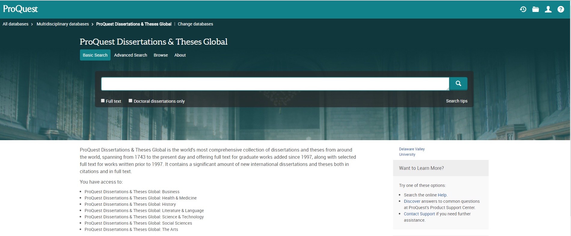 Dissertations & Theses Global