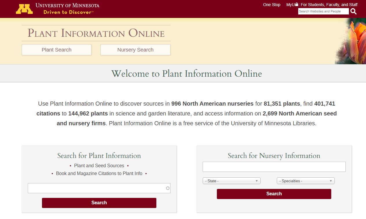 Plant Information Online