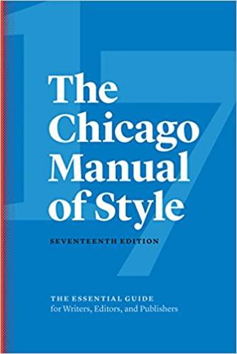 Chicago Style Handbook