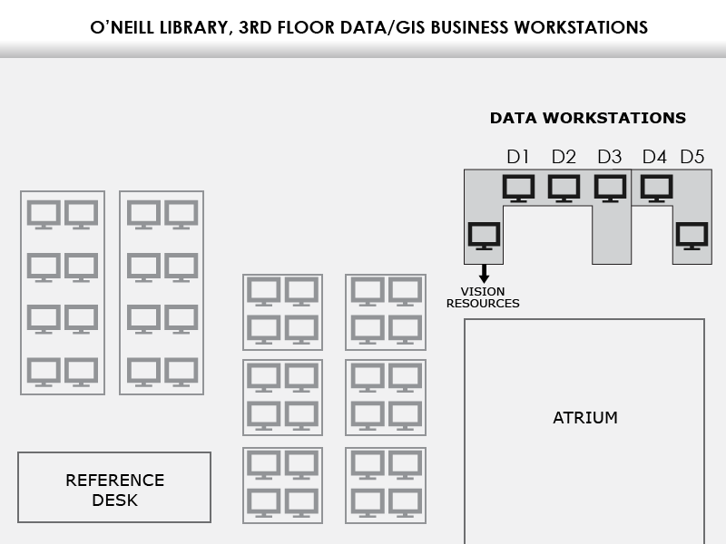 Map of the workstations on Level 3