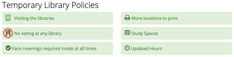 temporary library policies screenshot