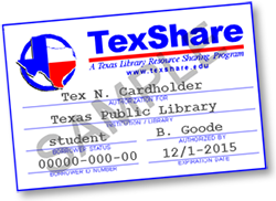 Sample TexShare card image, saved from TSLAC website