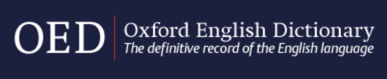 Image: logo for the Oxford English Dictionary database