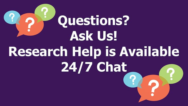 Research Help is Available through 24/7 chat
