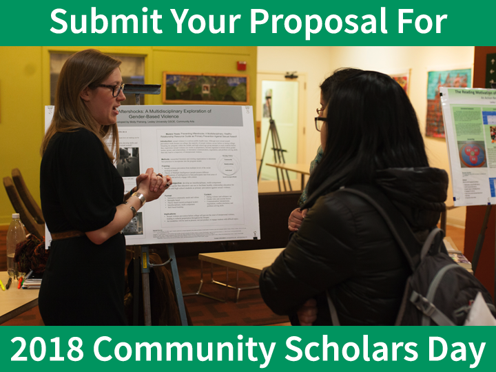 Submit Your Proposal for 2018 Community of Scholars Day