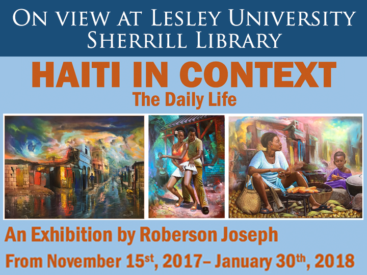 Image promoting gallery of Haitian art by artist Roberson Joseph,