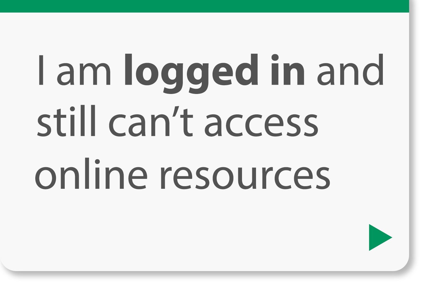 I am logged in and still can't access online resources