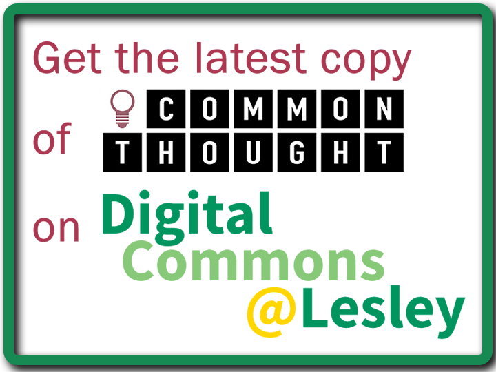 Read old issues of Commonthought on DigitalCommons@Lesley - Image links out to repository