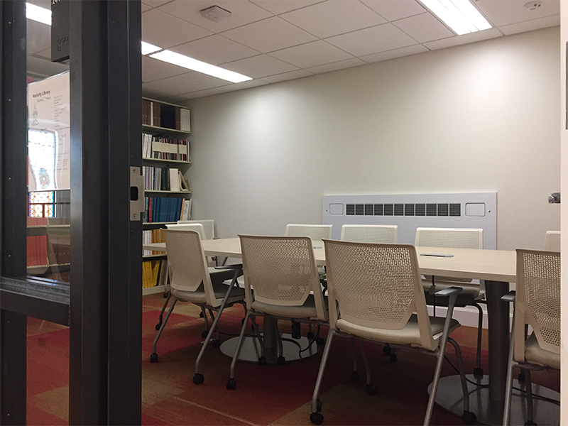 Photograph of room 241 on the second floor of Moriarty Library