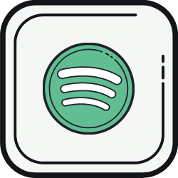 Spotify Square Icon
