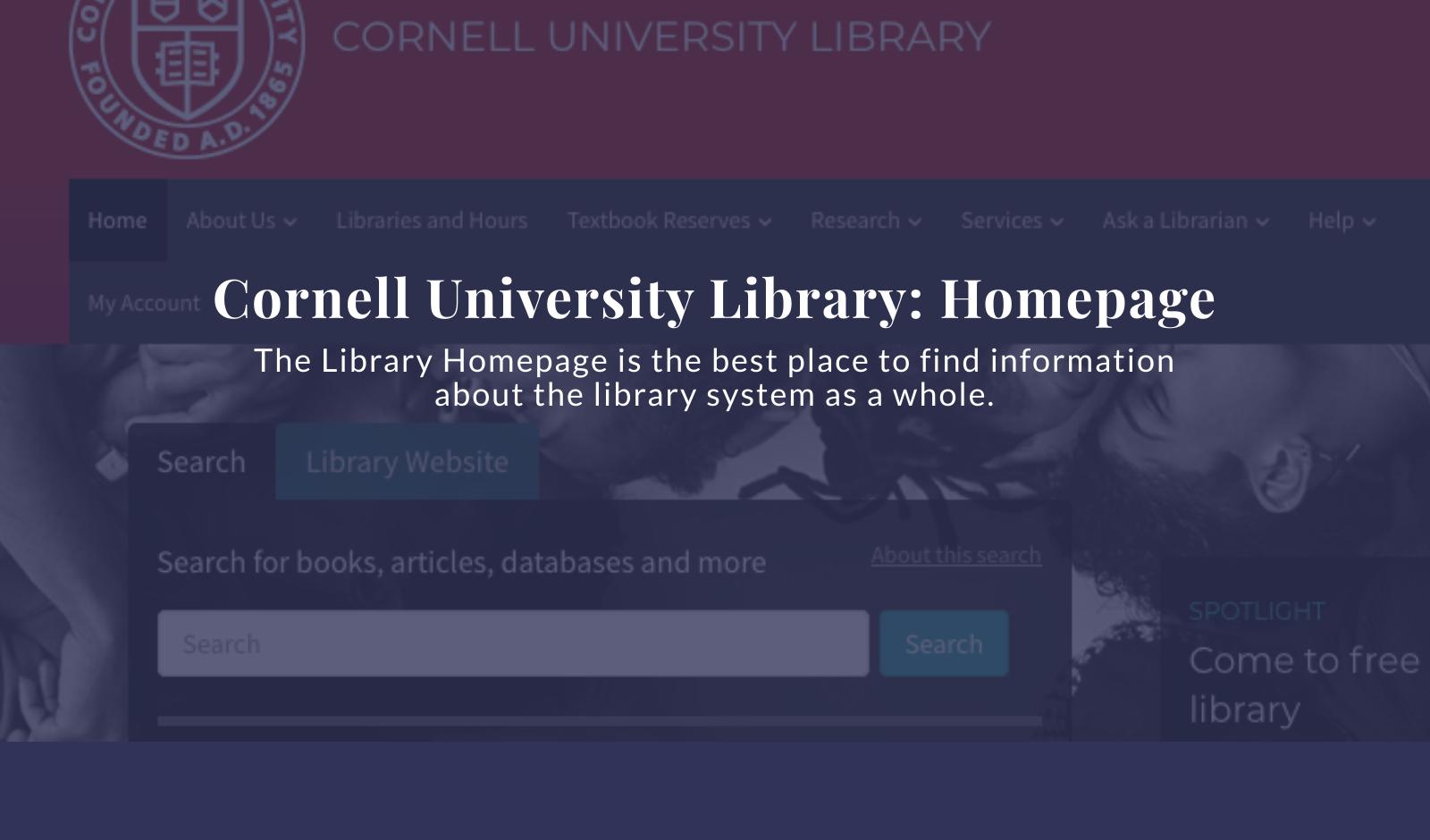 Cornell Library Tutorials