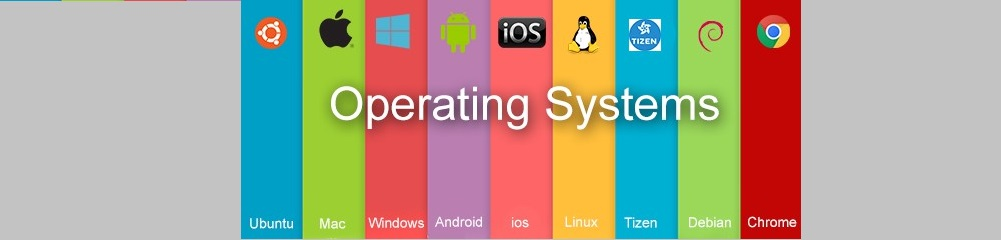 Operating Systems listed with icons, ubuntu,Mac, Windows, Android, iOS, Linux, Tizen, Debian, Chrome.